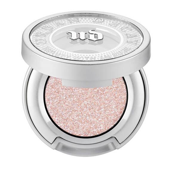 metallic white w/iridescent 3-D sparkle and shift